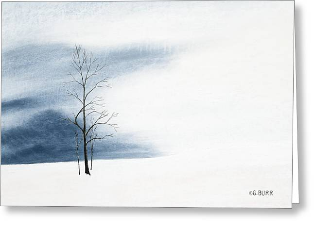 Whiteout Greeting Card by George Burr
