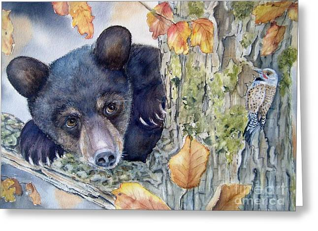 Who's There? Greeting Card by Patricia Pushaw