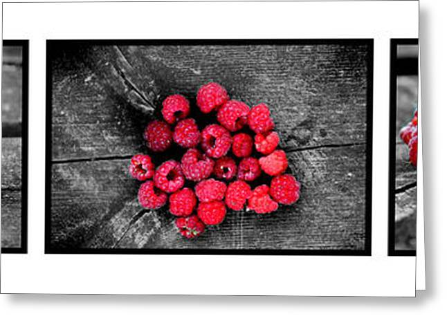Wild Strawberries On Straw Greeting Card by Tommytechno Sweden