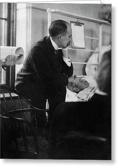 William Osler Attending A Patient Greeting Card by National Library Of Medicine