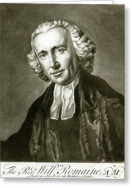 William Romaine  Astronomer, Chaplain Greeting Card