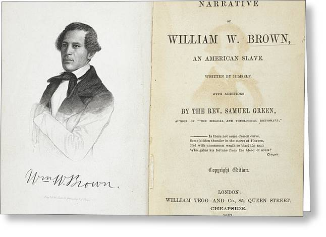 William W. Brown Greeting Card by British Library
