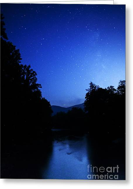 Williams River Summer Solstice Night Greeting Card by Thomas R Fletcher