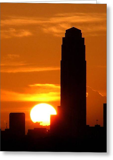 Williams Tower Sunset Greeting Card