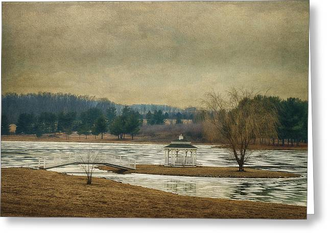 Willow Lake  Greeting Card by Kathy Jennings
