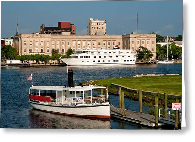 Wilmington Water Front Greeting Card by Denis Lemay