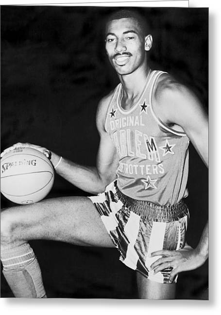 Wilt Chamberlain Greeting Card by Fred Palumbo