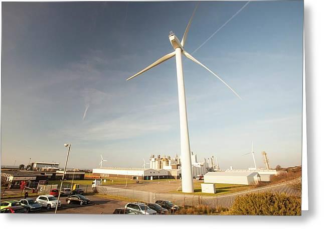 Wind Turbine At Workington Greeting Card