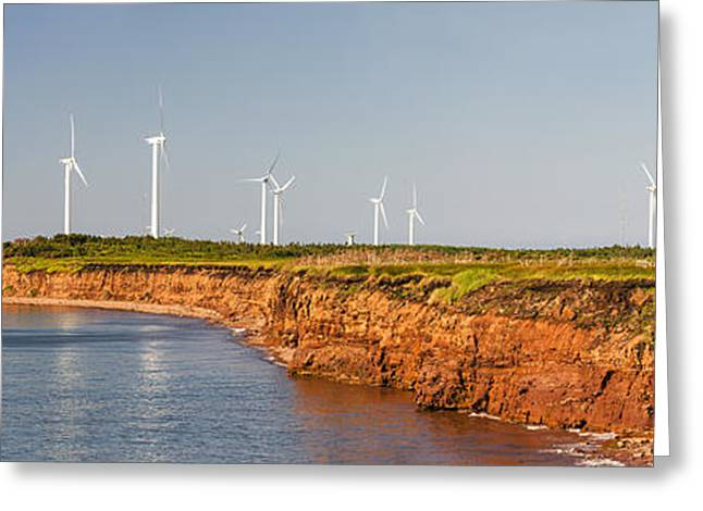Wind Turbines On Atlantic Coast Greeting Card