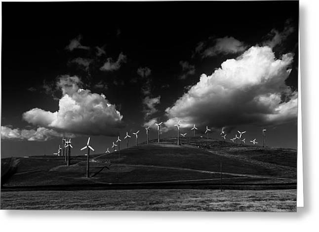 Windmill Electric Power Station Greeting Card