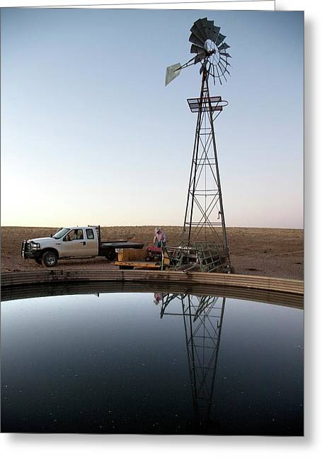 Windmill Water Pump Greeting Card