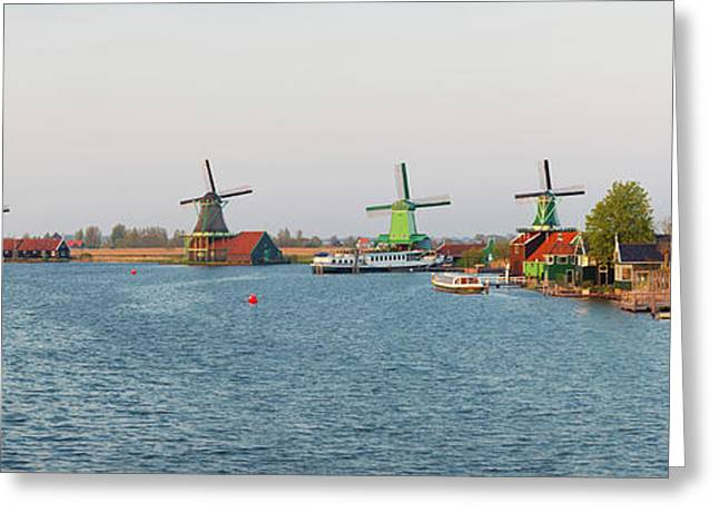 Windmills Along The Zaan River Greeting Card