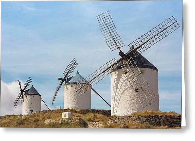 Windmills, Consuegra, Spain Greeting Card