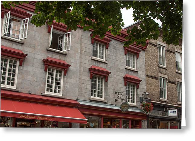 Windows Of Quebec City  Greeting Card