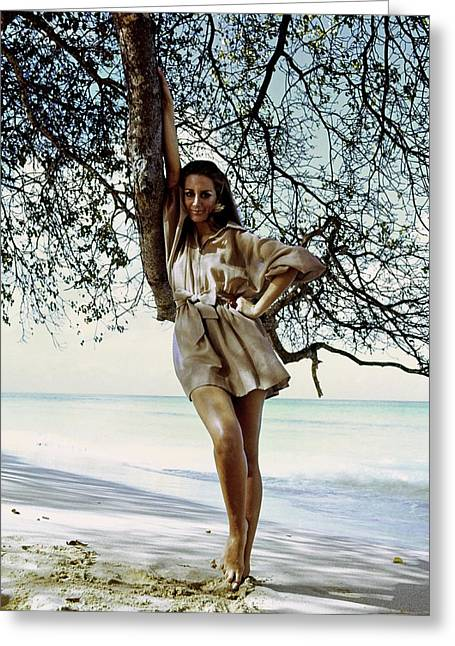 Windsor Elliott On A Barbados Beach Greeting Card