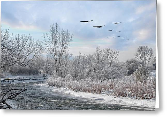 Winter Bombers  Greeting Card