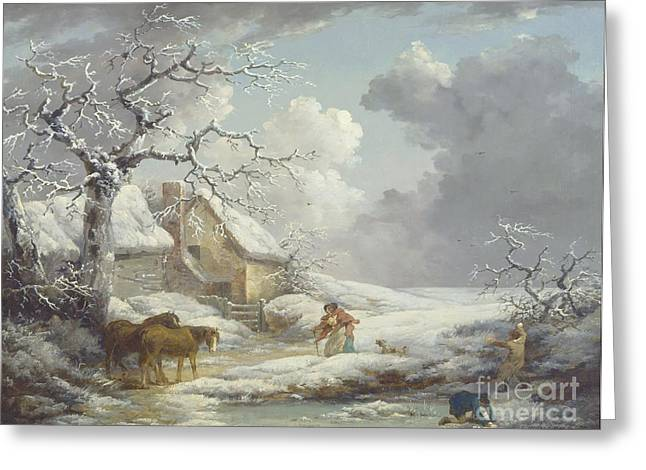 Winter Landscape Greeting Card by Pg Reproductions