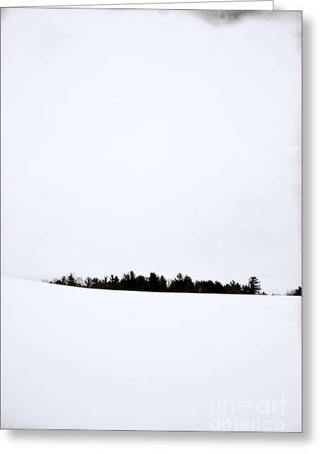 Winter Minimalism Greeting Card by Edward Fielding