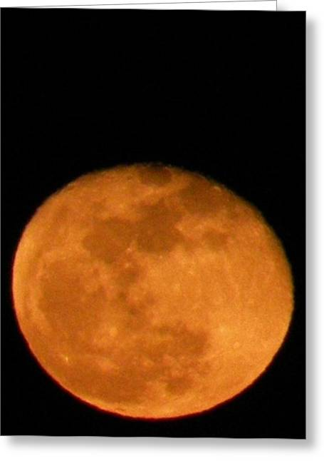 Greeting Card featuring the photograph Winter Moon by Carlee Ojeda