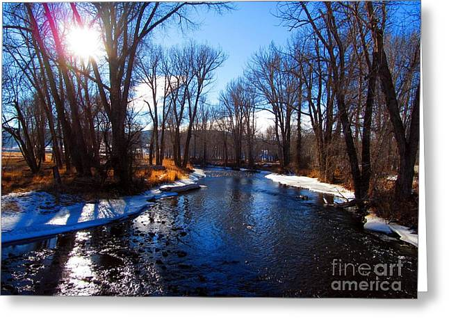Winter Recedes From The Little Blackfoot River Greeting Card