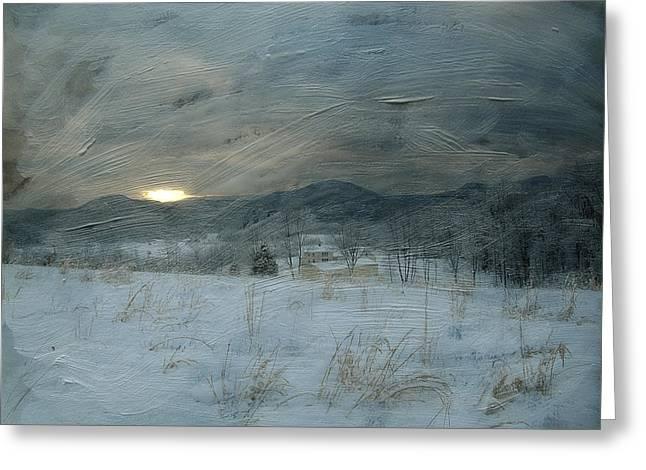 Winter Scene  Greeting Card by Kathy Jennings