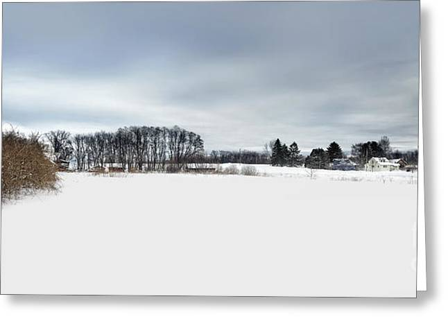 Winter Scenic Greeting Card by HD Connelly