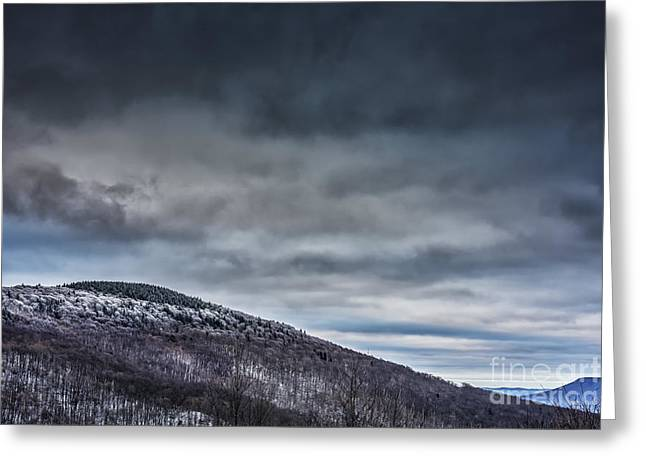 Winter View Highland Scenic Highway Greeting Card