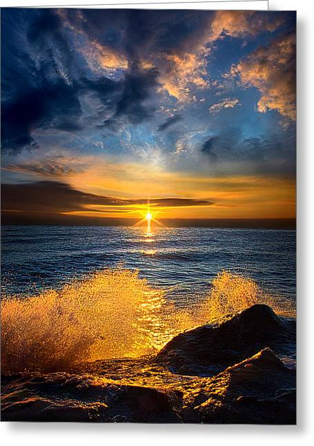 Winter Waves Greeting Card by Phil Koch