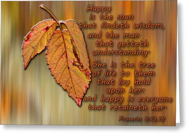 Wisdom Greeting Card by Larry Bishop
