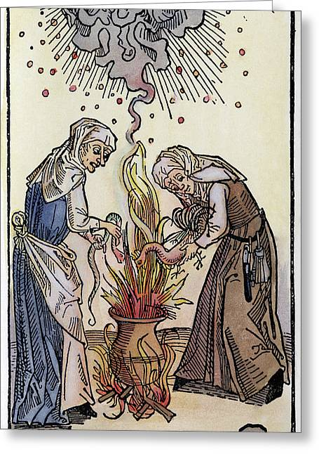 Witches, 1508 Greeting Card by Granger