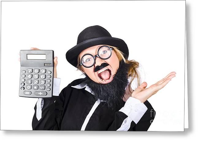 Woman Tax Accountant Greeting Card