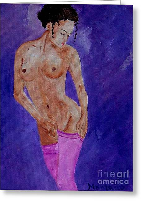 Women Nude Greeting Card by Inna Montano