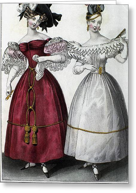 Women's Fashion, 1829 Greeting Card