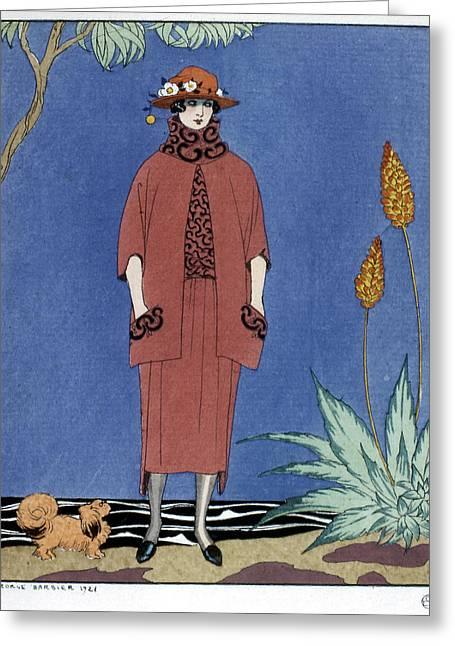 Women's Fashion, 1921 Greeting Card by Granger