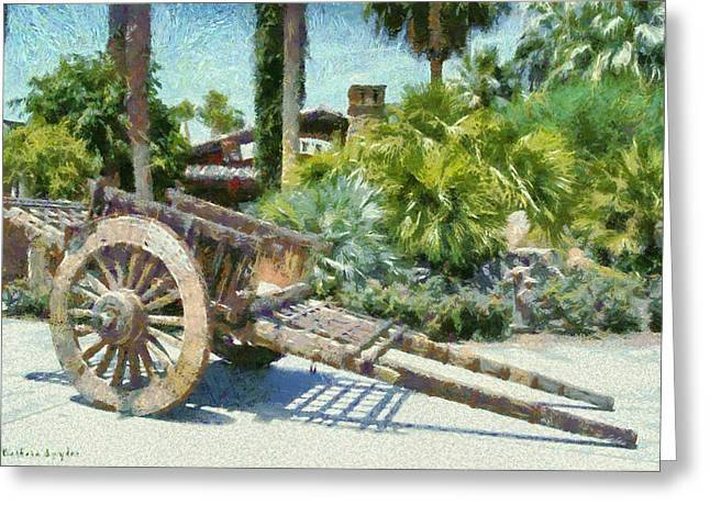 Wood Hand Cart Greeting Card