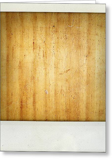 Wood Texture Greeting Card by Les Cunliffe
