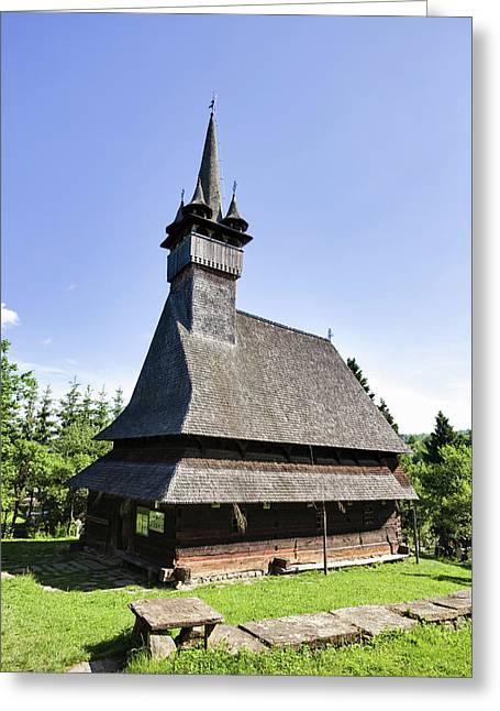 Wooden Church (biserica De Lemn Greeting Card by Martin Zwick