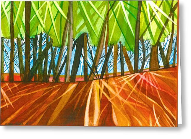 Woodland Shadows Greeting Card