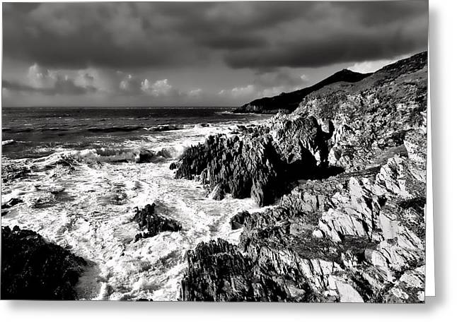 Woolacombe To Morte Point Greeting Card by Pete Hemington