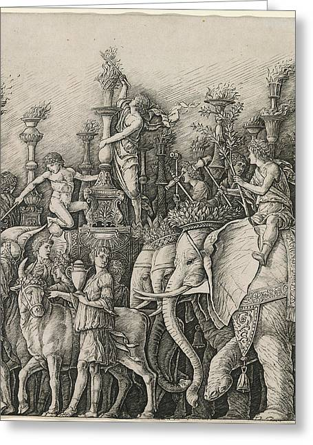 Workshop Of Andrea Mantegna Or Attributed To Zoan Andrea Greeting Card by Quint Lox