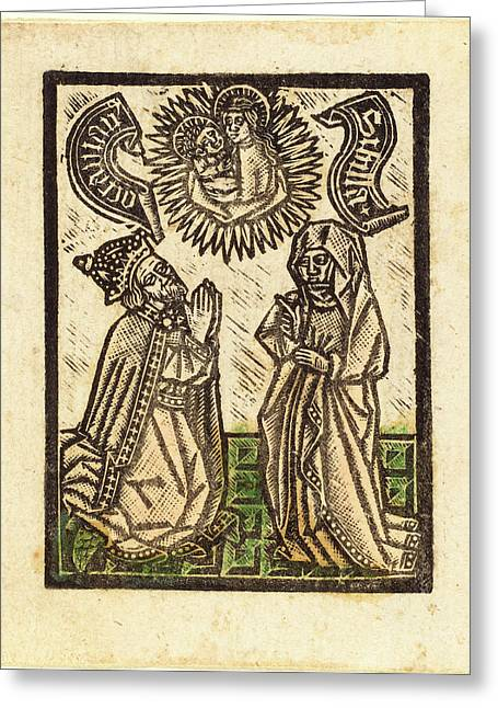 Workshop Of Master Of The Aachen Madonna Greeting Card by Quint Lox