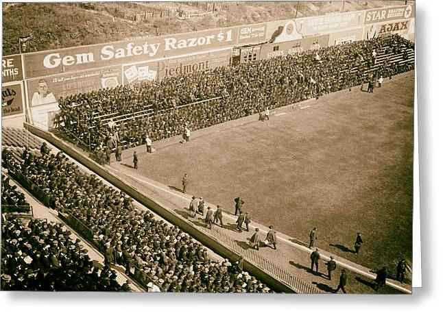 World Series Crowd At Ebbets Field Brooklyn 1920 Greeting Card