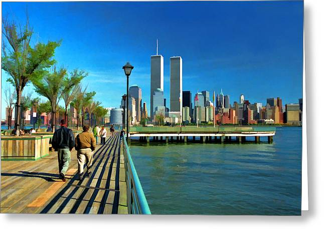 World Trade Center 5 Greeting Card by Allen Beatty