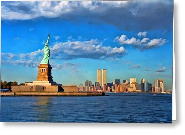 World Trade Center 6 Greeting Card by Allen Beatty