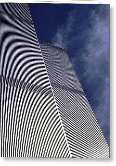 World Trade Center 2 Greeting Card by Allen Beatty