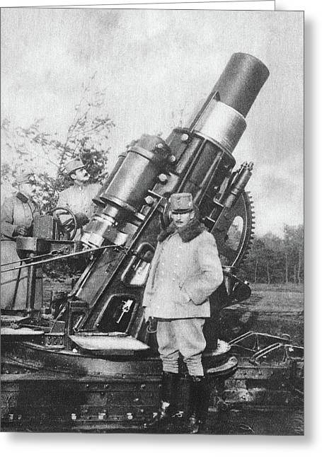 World War I Howitzer Greeting Card by Granger