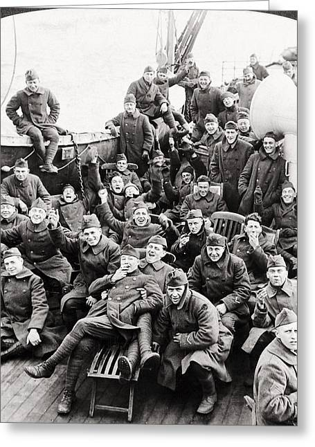World War I Transport Greeting Card