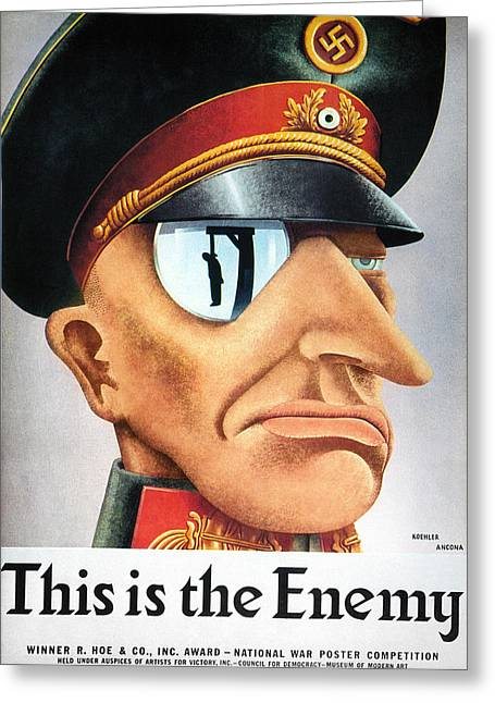 World War II Poster, 1942 Greeting Card