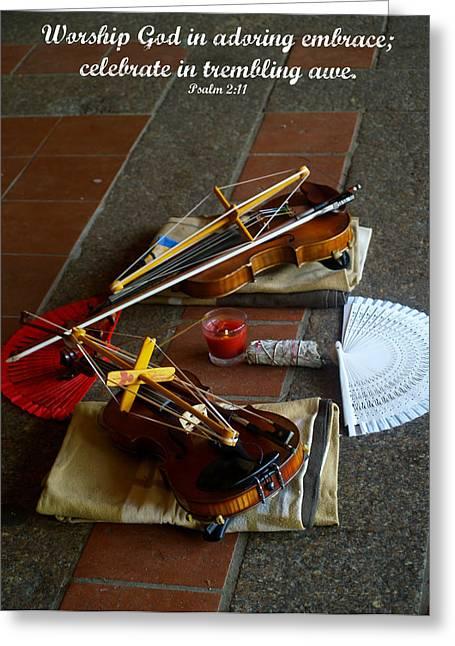 Worship Greeting Card by Roseann Errigo