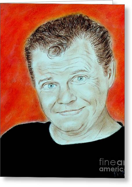 Wrestling Legend Jerry The King Lawler Greeting Card by Jim Fitzpatrick